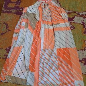 Lane Bryant 3x coral and orange dress